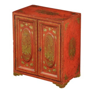 Antique Chinese Export Miniature Cabinet, Circa 1850