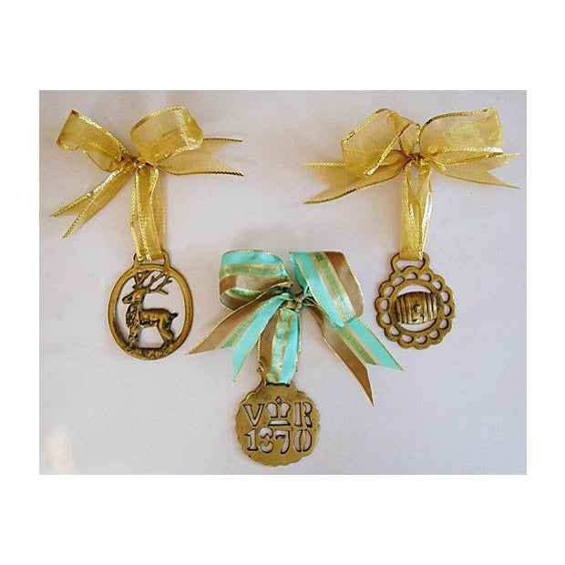 Antique English Brass Horse Ornaments - Set of 3 - Image 2 of 6