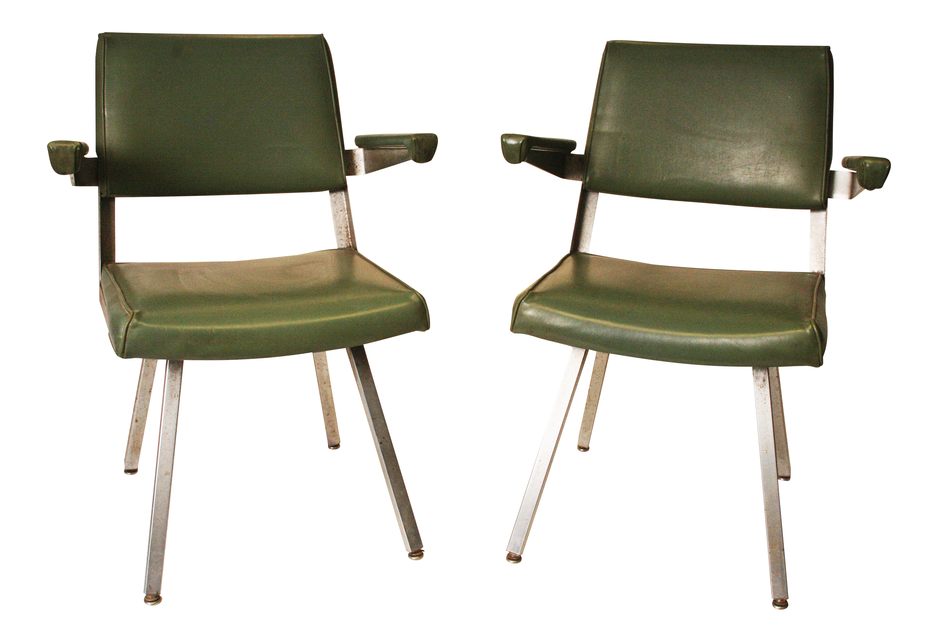 Harter Mid Century Modern Industrial Office Chairs  A Pair