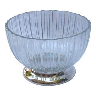 Italian Glass Bowl on Silver