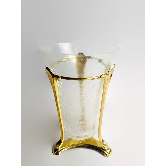 Image of Vintage Regency Brass Pedestal Vase