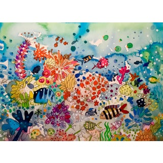 "Original ""The Pigment Parade"" Watercolor Painting"