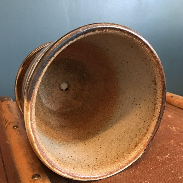Studio Pottery Planter & Drainage Dish - Image 6 of 7