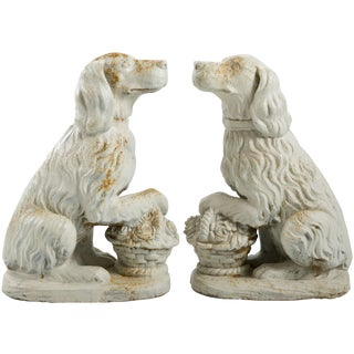 Cast Iron Spaniels - Pair