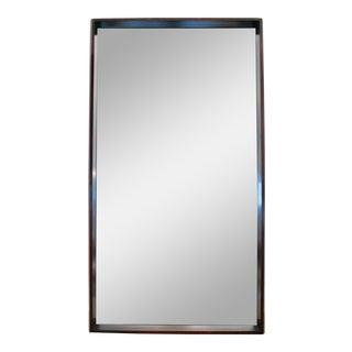 1950s Minimalist Walnut Framed Mirror