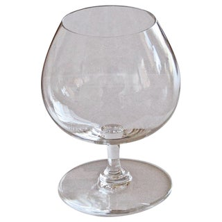 Daum French Crystal Cognac Glasses - Set of 8