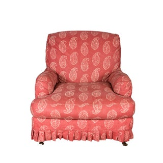 Red Slipcovered Chair