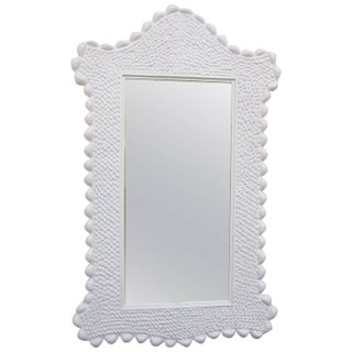Italian Faux Seashell Arched Top Mirror