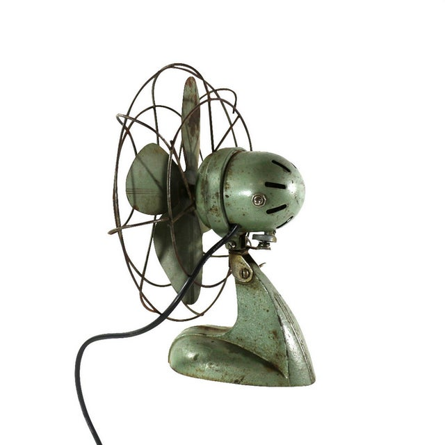 Image of Kenmore Vintage 1930s Art Deco Metal Desk Fan
