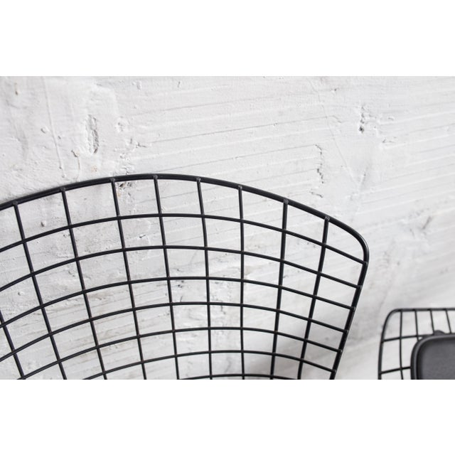 Image of Knoll Bertoia Black Wire Side Chair