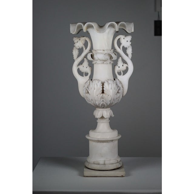 Early 20th C Hand Carved Italian Alabaster Vase - Image 2 of 10