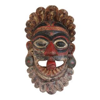 Vintage Wooden Kerala Shiva Mask