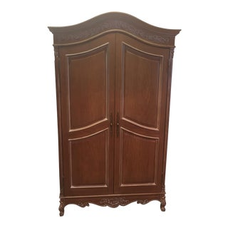 Queen Anne Style Wood Armoire