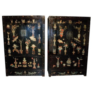 Rare Painted Chinese Cabinets, 18th c