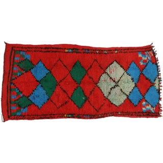 Modern Berber Moroccan Tribal Rug - 4′ × 8′2″