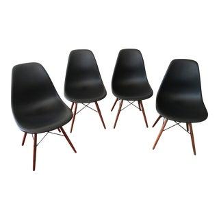 Eames Moulded Black Plastic Side Chair - Set of 4
