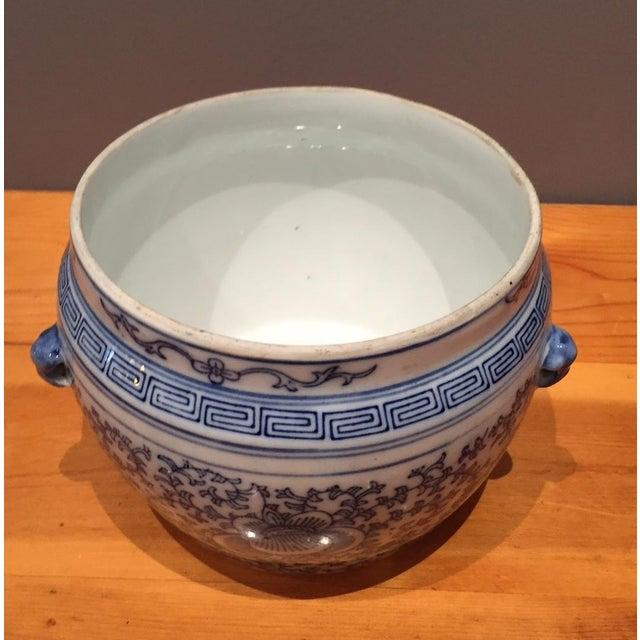 Blue & White Chinese Fish Bowl - Image 5 of 5