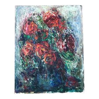 Vintage Impasto Floral Still Life Painting