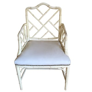Vintage Chippendale Chinoiserie Chairs - A Pair