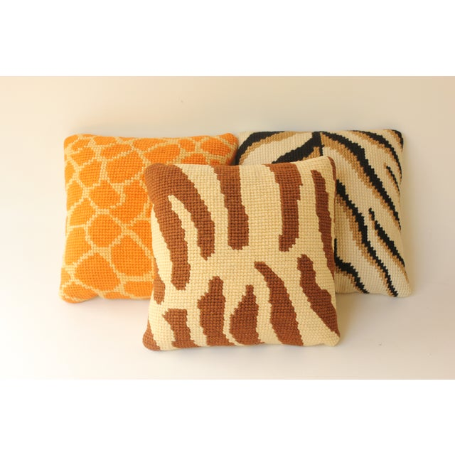 Vintage Wild Animal Pillows - Set of 3 Chairish