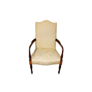 Vintage Mahogany Upholstered Armchair