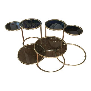 Design Institute Brass Cocktail and Side Tables - Set of 3