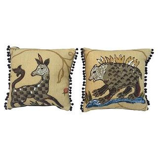 La Menagerie Animal Motif Pillows - A Pair