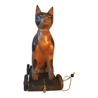 Vintage Marshall Fields Cat Pull Toy
