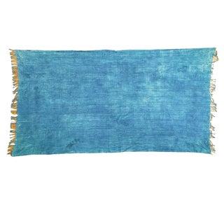 African Denim Batik Throw