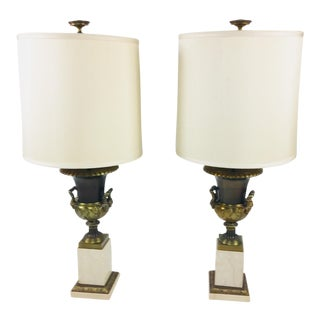 Mid-Century Empire Lamps - A Pair