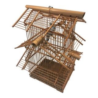 1940s Asian Bamboo Birdcage