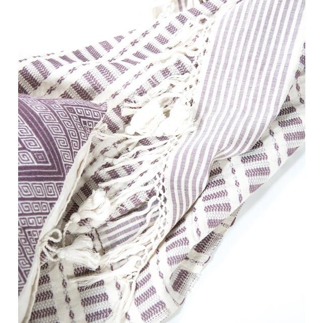 Mauve Handwoven Mexican Throw - Image 6 of 6