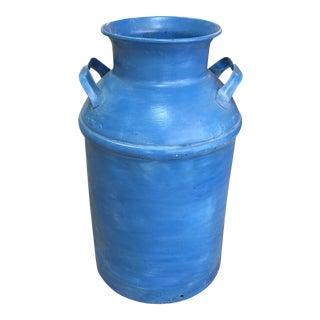 Vintage Blue Milk Can