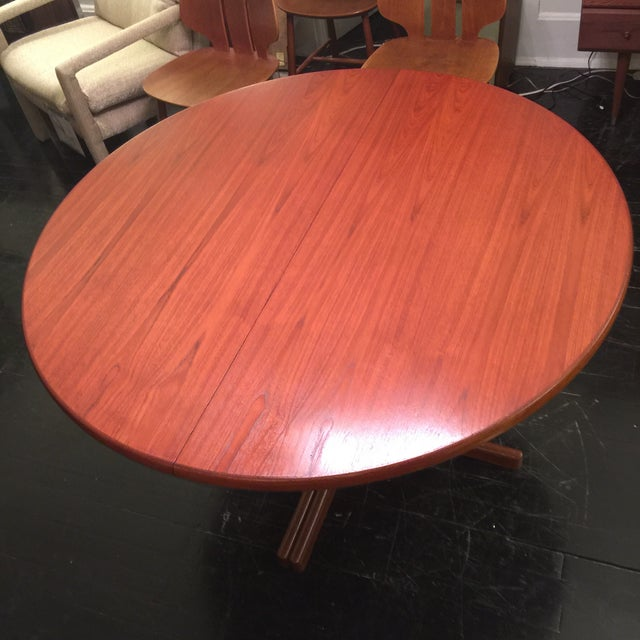 Solid Teak Table With 2 Leaves by J. O. Carlsson - Image 3 of 10