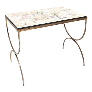 Tile Table with Romantic Scenes