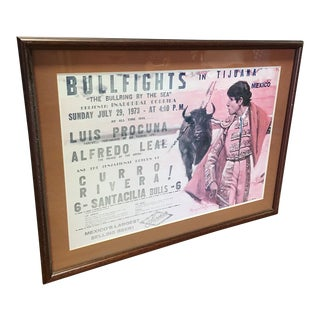 Framed Bull Fighting Poster