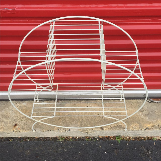 Mid Century Modern Wire Plant Stand - Image 4 of 6