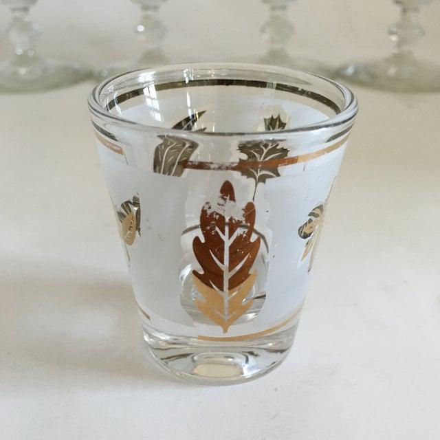 Libbey Starlyte Gold Leaf Glasses - Set of 9 - Image 7 of 7