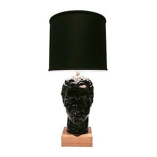 Mid-Century Male Bust Table Lamp