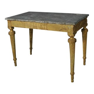 Period 18th Century French Louis XVI Neoclassical Gilt Console Table