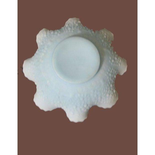 Image of Fenton Light Blue Satin Glass Bowl