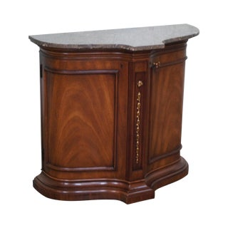 Heritage Marble Top Console Cabinet