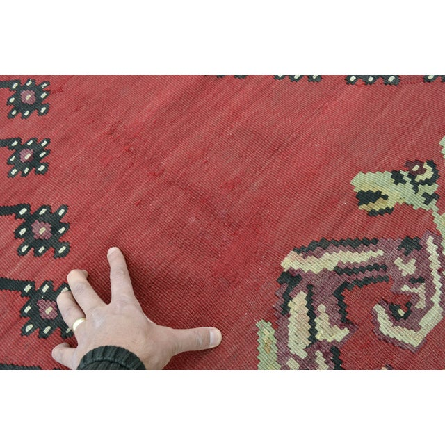"Anatolia Turkish Kilim Large Rug - 9'6"" X 10'8"" - Image 10 of 10"