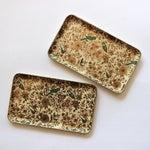 Image of Vintage Flora & Fauna Vanity Trays - A Pair