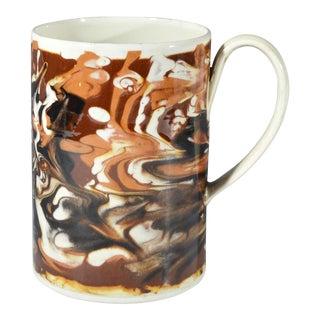 Marbled Creamware Mocha Pottery Tankard.