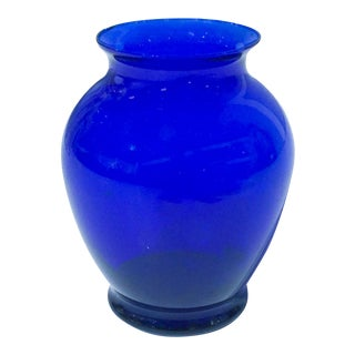 Vintage Cobalt Blue Glass Vase