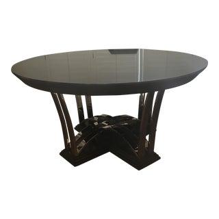 Swaim Round Black Dining Table