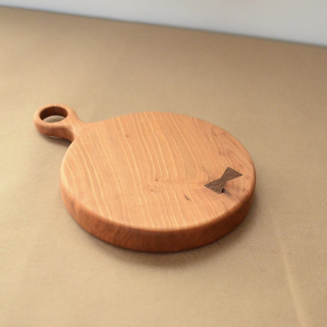 Small Cherry Board with Walnut Bowtie - Image 2 of 8