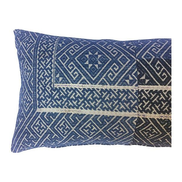 Chinese Indigo Wedding Quilt Pillow - Image 2 of 6