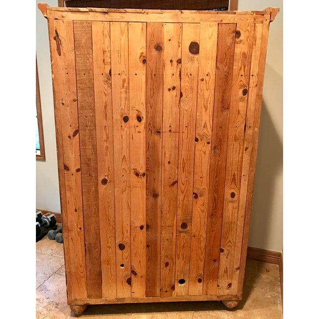 Customized Mexican Pine Cantina Dry Bar Cabinet - Image 10 of 10